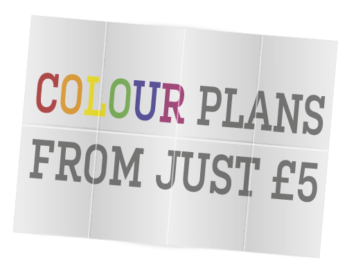Colour plan printing from just £5